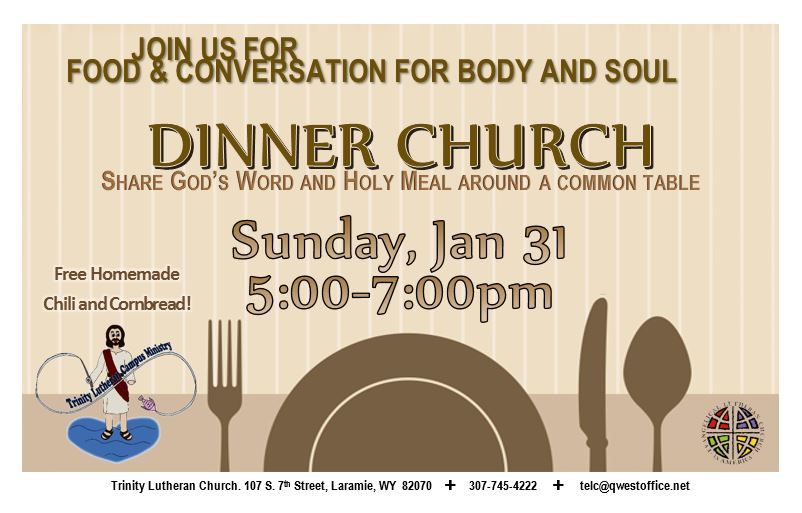 Join Us For Dinner Church This Sunday Trinity Evangelical
